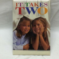 "1995 Pinback Pin ""IT TAKES TWO"" with Mary Kate and Ashley Olsen Promotional"