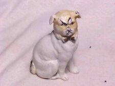 Vintage Grumpy Face Pug Dog Bisque Figurine Statue