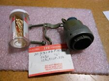 ITT CONNECTOR WITH CONTACTS & STRAIN RELIEF PART # MS3126F18-32P