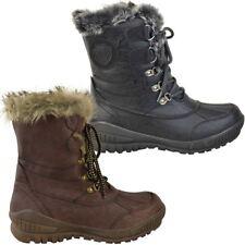 Para Mujer Damas Tobillo Botas De Nieve Esquí Invierno Lluvia Térmico Completamente Piel Forrada de tamaño de Reino Unido
