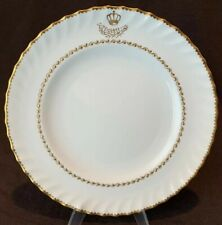 Royal Crown Derby King Faisal II Iraq Royal Yacht Queen Aliya Dinner Plate Gold