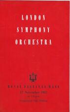 1957 Rudolf Kempe Annie Fischer Schumann LSO Neville Marriner concert programme