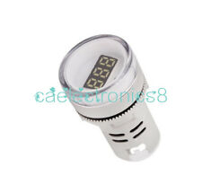 22MM White AC60-500V LED Voltmeter Voltage Meter Indicator Pilot Light CA