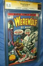 WEREWOLF BY NIGHT #32 CGC 9.0 SS Stan Lee - 1st Appearance of MOON KNIGHT 1975
