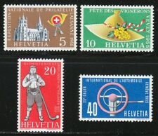 Switzerland 1955 MNH Mi 607-610 Sc 351-354 Automobile Show,Lausanne Cathedral