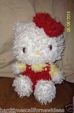 Hello Kitty Plush Red Yellow Shaggy 12