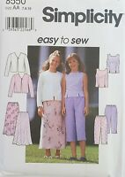 Trousers Skirt simplicity Vintage Pattern Top Shorts 80s Simplicity Sewing Pattern Uncut 8721 Size 16 Jacket