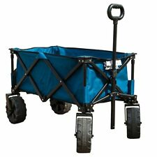 Folding Camping Collapsible Sturdy Steel Frame Shopping Garden/Beach Wagon/Cart