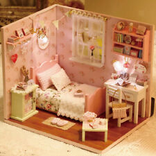 Diy Dollhouse Miniature Kit With Furniture - Bedroom Life Scene Ornament Toy