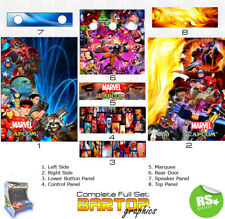 Marvel Capcom Full/Half Sets Arcade Artwork Stickers Graphics /All Sizes