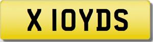 LLOYD LOYD LOID LLOID LOIDS YDS YIDS X 10  Cherished Registration Number Plate