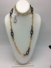 $50 Anne Klein  Gold-Tone black  Strand Necklace 840