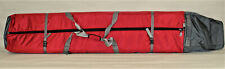 FULLY PADDED ADJUSTABLE DOUBLE SKI BAG W/WHEELS - RED