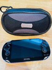 SONY PS Vita PCH-1001 Black Model w/ Charger and Case