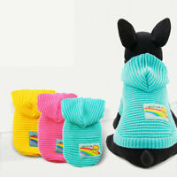Knitted Small Dog Sweater Clothes Warm Pet Cat Hoodie Coat Jacket Puppy Jumper