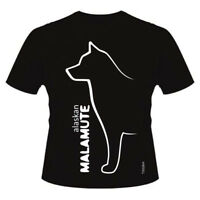 Alaskan Malamute Dog  Breed T-Shirts, Round-Neck,  Ladies & Men's sizes & styles