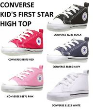 CONVERSE KID'S FIRST STAR HIGH TOP VARIOUS COLORS AND SIZES