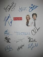 Chuck Signed TV Script x13 Zachary Levi Sarah Lancaster Yvonne Strahovski reprnt