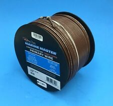 DEKA 14 AWG BROWN Marine Tinned Copper Boat Wire Cable 100 Feet Made in USA