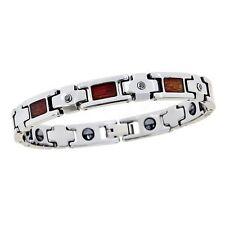 Tungsten Carbide Wood Inlay Diamond Bracelet  OUR EXCLUSIVE   FOR Men & Women