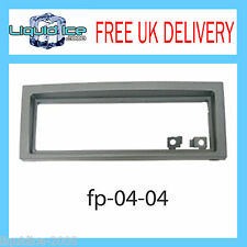 FP-04-04 Peugeot 407 2005 > Grey Single DIN Fascia Facia Adaptor Panel Surround
