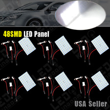 6 X 12V White 48SMD Panel Festoon T10 BA9S Interior Dome Map LED Light Bulb Lamp