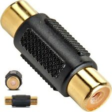 Single RCA Female-F Coupler/Joiner Audio/Video/Composite cable/wire Adapter{GOLD
