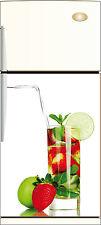 Sticker frigo REPOSITIONNABLE déco cuisine Fleur papillon 60x90cm Réf 215