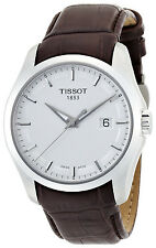 T0354101603100 Tissot Couturier Men's Brown Leather Band Watch Silver Dial white