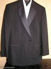 $430 New Jos A Bank Tuxedo Formal wear solid black Jacket  46 L