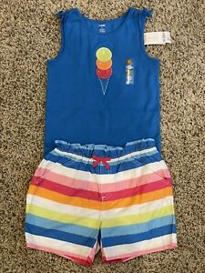 NWT Gymboree Summer Ice Cream Cone Outfit Tank & Shorts Girls Size 12