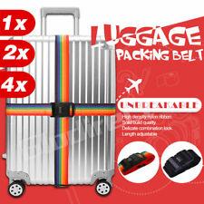 Travel Luggage Strap Suitcase Belt Adjustable Password Secure Lock Nylon Packing