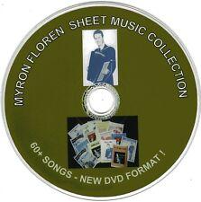 60+ Myron Floren (NEW) Accordion Sheet Music (CD#1 & CD#2) - Now on DVD Format !