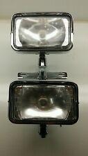 Vintage Chopper - Dual Rectangular Headlight w/ Paughco Bracket