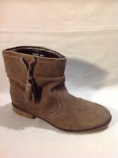 F&F Brown Ankle Suede Boots Size 3