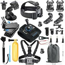Essentials Accessories Kit For Hero 5/4/3/2/1 Session Hero LCD 18-in-1 Black