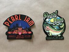 Pearl Jam Missoula Trout And Chicago Buckingham Fountain Wrigley Stickers 2018
