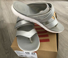 Fitflops Neoflex Toe Thong Soft Grey Silver Size 7