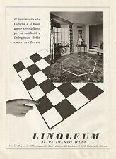 Y0028 LINOLEUM il pavimento di oggi - Pubblicità 1938 - Advertising