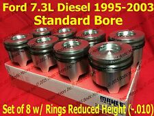 Ford 7.3 7.3L Diesel Pistons Standard set w/ Rings 95-03 MAHLE Clevite set of 8