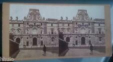 STC383 Paris Le Louvre albumen STEREO Photography Stereoview