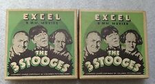 pair The 3 Stooges early Columbia Pictures  8mm film in box