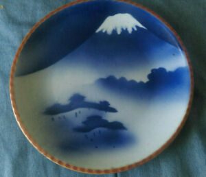"Japanese Igezara Arita Ware Mount Fuji Charger 11"""
