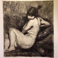 Albert Besnard gravure eau forte etching Le Turban Étude De Femme Nue Féminin