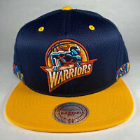 Mitchell and Ness NBA Golden State Warriors Woven Stripe Snapback Hat, New