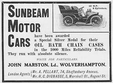 SUNBEAM MOTOR CARS-Antique Edwardian annonce 1903