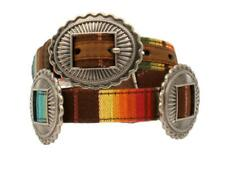 Ariat Western Girls Belt Kids Serape Oval Silver Conchos Multi Colored A1306997