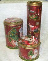 Santa Claus Tin Boxes Lot of Three