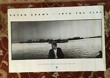 Bryan Adams Into The Fire rare original promotional poster from 1987