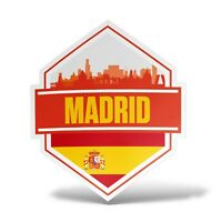 Sticker MADRID Adesivo Parete Souvenir Decal Laptop Murale Casco Auto Moto